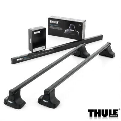 Thule bérlésre használt tetőcsomagtartó szett - normál tetőre